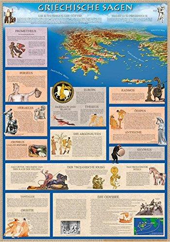 Griechische Sagen (Bildungsposter 70x100cm)