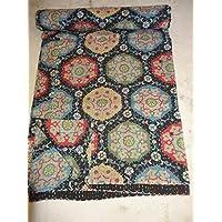 Tribal Asian Textiles-Piumone In cotone regina Kantha Suzani, Regina Kantha Coperta, motivo: Suzani