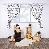 LULANDO Kinderzimmer Vorhänge Kindervorhänge Gardinen (155 cm x 120 cm) mit zwei Schleifenbändern zum Verzieren. In kinderfreundlichen Motiven erhältlich. Farbe: Airplanes / Stripes