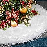 Weihnachtsbaum Rock, Au-Link Plüsch Weiß Baum Röcke Decke Weißer Fell Christbaumständer 122CM/48Inch