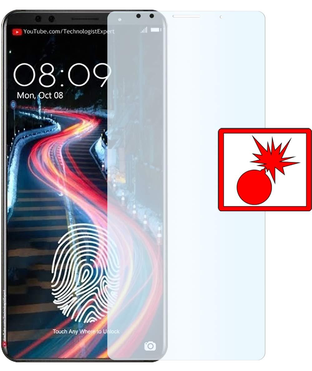 Slabo 2 x Protector de Pantalla blindado para Huawei P20 Pro Protector de Pantalla reducido, a Causa de la Pantalla Curvada Shockproof A Prueba de Golpes Invisible Made IN Germany
