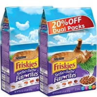 Purina Friskies Surf N Turf Dry Cat Food Bag 1.43kg (2 Bags)
