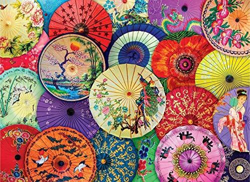 Jinzuo puzzle 1000 pezzi 3d bambini 8 anni paesaggio legno adulto arte giocattolo decorazione regalo panorama ombrelli asiatici di carta a olio