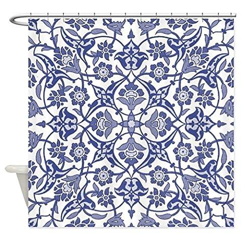 eikleom Bleu Indigo Vintage Design Flora Polyester Imperméable rideau de