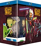 Star Wars: The Clone Wars (Complete Seasons 1-5) - 14-Disc Box Set & Yoda FUNKO Figurine ( ) [ Französische Import ] (Blu-Ray)