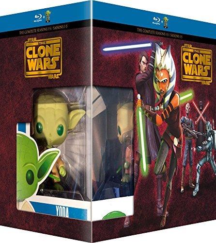 Wars (Complete Seasons 1-5) - 14-Disc Box Set & Yoda FUNKO Figurine ( ) [ Französische Import ] (Blu-Ray) (Star Wars The Clone Wars Filmen)