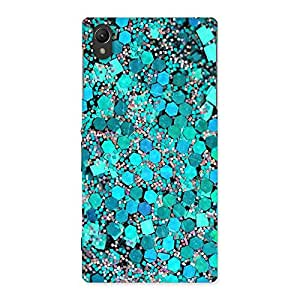 Delighted Paper Green Print Back Case Cover for Sony Xperia Z1