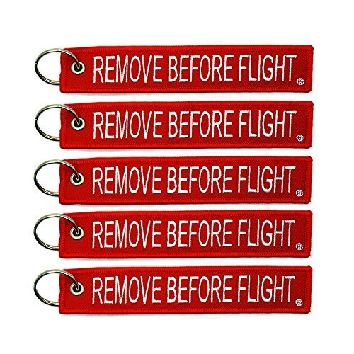 Price comparison product image 5x Remove Before Flight Key Chain Aviation Truck Motorcycle Pilot Crew Tag Boat