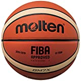 Molten X-Indoor/Outdoor Basketball, FIBA Approved – BGMX, Orange/Braun, 7