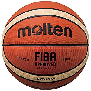 Molten X-Indoor/Outdoor Basketball, FIBA Approved - BGMX, Orange/Braun, 7