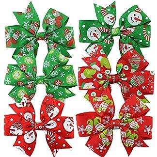 6 Piezas Horquillas Para El Pelo Niña Pinzas Pelo Navidad Accesorios Pelo Niña