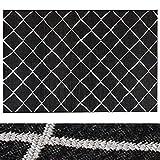 Design Teppich Rhombus | moderne Flachgewebe Teppiche mit Trend Rauten Muster | in 2 Größen für Wohnzimmer, Esszimmer, Schlafzimmer etc. | schwarz / creme 120x170 cm