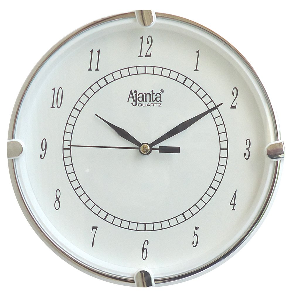 Buy ajanta fancy analog wall clock small size for home and office buy ajanta fancy analog wall clock small size for home and office round white online at low prices in india amazon amipublicfo Images