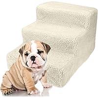 DHOUTDOORS Hundetreppe katzentreppe Steighilfe Einstiegshilfe Tiertreppe Holz für ältere oder kleinere Hunde