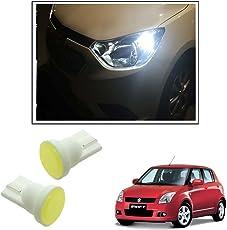 Vheelocityin Car Ceramic Button Shape White LED Parking Bulbs (set of 2) For Maruti Suzuki Swift Old