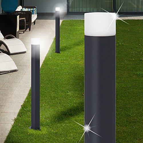 MIA Light Poller Leuchte ↥800mm/ Anthrazit/Metall/ AUSSEN Wege Lampe Aussenlampe Aussenleuchte Gartenlampe Gartenleuchte Pollerlampe Pollerleuchte Wegelampe Wegeleuchte - Poller-leuchten