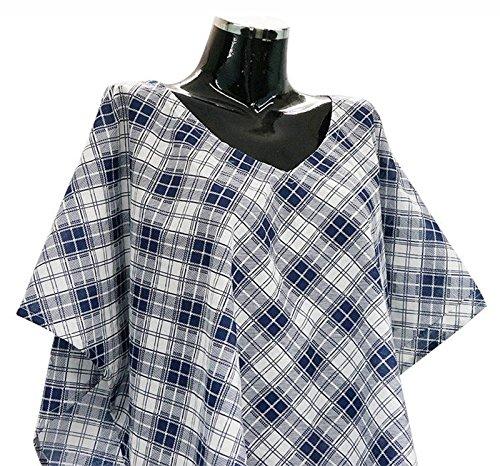 Wobbly Walk 2-in-1 poncho des femmes pour la maternité et les soins infirmiers de taille plus robe top Bleu et blanc