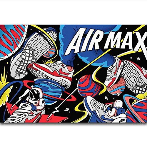 yhnjikl Poster Und Drucke Michael Jordan Air 30 Jahrestag Schuhe Sneaker Mode Kunst Poster Leinwand Malerei Wohnkultur 40X60 cm Ohne Rahmen -