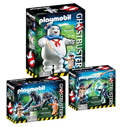 PLAYMOBIL® Ghostbusters Set: 9221 Stay Puft + 9223 Venkman & Terror-Dogs + 9224 Spengler & Ghost