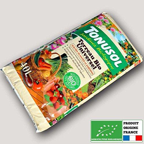 Tonusol - Terreau biologique fertilisé toutes plantes. Tonusol 40 litres