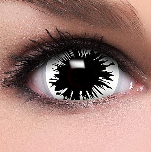 Farbige Mini Sclera Kontaktlinsen Lenses Shot inkl. Behälter - Top Linsenfinder Markenqualität, 1Paar (2 Stück) (Kaufen Kontaktlinsen Halloween Farbige)