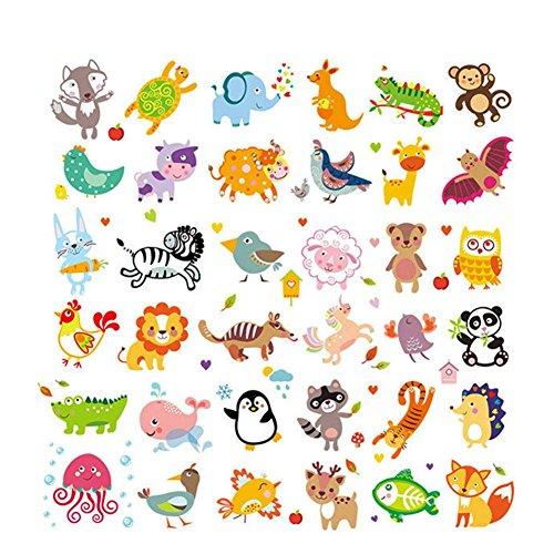 Househome Pegatina de Transferencia de Calor, Linda Caricatura Animal de Transferencia de...