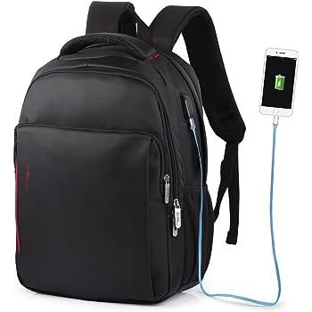 """Vbiger Zaino PC Antifurto Zaino Porta PC Zaino Scuola 14"""" Impermeabile Zaino per Computer portatile Con Caricatore USB"""