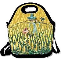 Preisvergleich für Lunch Tote Boy und Vogelscheuche Lunch-Boxen Lunchpaket Handtasche Lebensmittel Aufbewahrung passend für Schule Reisen Arbeit Outdoor