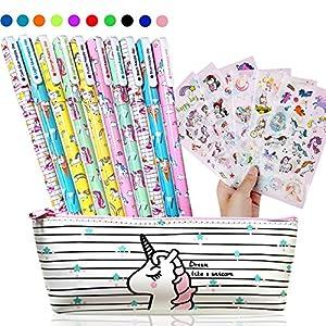 Bolígrafos de Unicornio Para Niñas,10