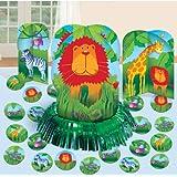 Amscan International Décoration de table pour animaux de la jungle 289581Kits
