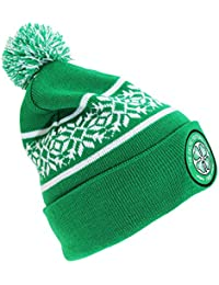 7a4caf1c3652e Celtic FC Official Embroidered Snowflake Football Crest Beanie Hat
