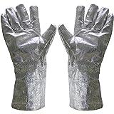 Musykrafties 38,1cm alluminizzato sicurezza guanti da forno di fusione Raffinazione casting crogiolo oro argento rame metallo vetro resistente al calore 1832Fahrenheit