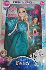 Siddhi Vinayak Beautiful Miss India Fashion Doll for Baby/Girl Frozen Classic Fairy 2 Doll Set Big and Small with Hair Accessories.