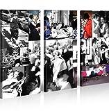 islandburner Bild Bilder auf Leinwand Audrey Hepburn V7 XXL Poster Leinwandbild Wandbild Dekoartikel Wohnzimmer Marke
