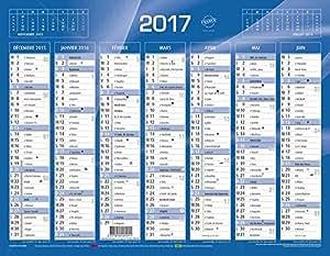 Quo Vadis - 1 Calendrier De Banque Bleu 430x335mm Année 2017