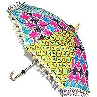 Design tradizionale a mano aperta ricamato sole Base ombrellone