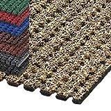 etm® Sicherheitsmatte gegen Glätte | rutschfeste Granulat Beschichtung | deutsches Qualitätsprodukt | 120 cm Breite | viele Farben und Längen (2 m Länge, beige)