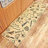 AZUO3 Blöcke Zum Verkauf Cartoon Japanischen Stil Haushalts Bekleidung Resistente Rutschfeste Fußpolster Haushalt Wasserdicht Öl Proof Streifen Leder Küche Bodenmatte,C,S