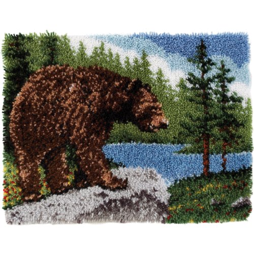 Miscela Spinrite cotone / poliestere Wonderart Classic fermo Kit Hook, Grizzly Bear