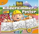 Bob der Baumeister - Kinderzimmerposter zum Ausmalen: 6 Poster plus viele bunte Sticker