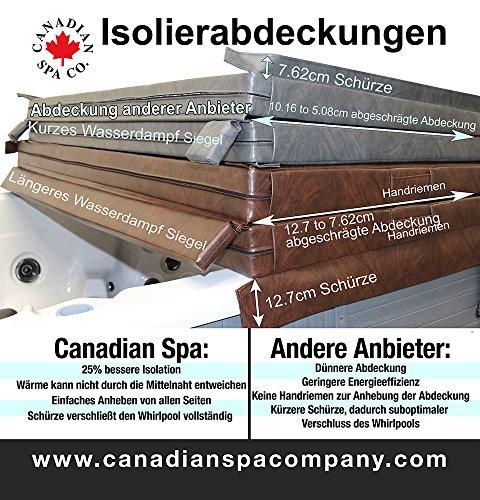 Canadian Spa hochwertige Whirlpool Isolierabdeckung, energiesparend, braun, 208cm x 208cm