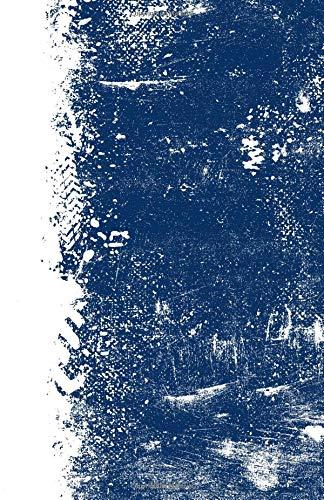 Dark Blue And White: (5.5 x 8.5 Dot Grid) Blank Journal Grunge School Color Notebook