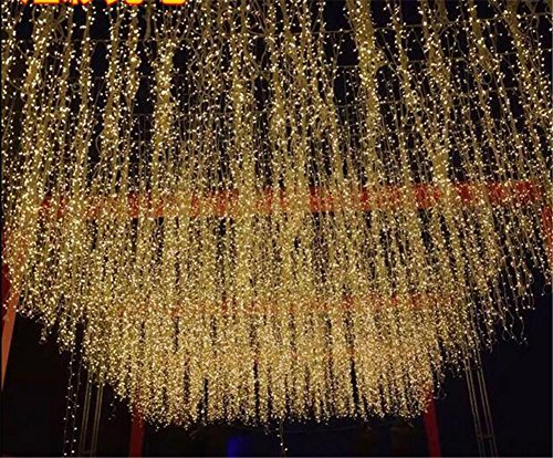 LUCKY CLOVER-A String Light 20 Meter 200 LEDs Fenster Curtain Wedding Party Halloween Christmas Garten Zimmer Outdoor Indoor Wall Dekorationen (warm weiß, 8 Modi, Tail Stecker) (Outdoor-halloween-dekoration)
