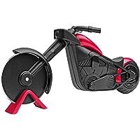 KUONIIY Moto Taglia Pizza  Ruota per Pizza  Bella Decorazione  Ideale per Regali Creativi  21 5   8 5 cm  Nero e Rosso