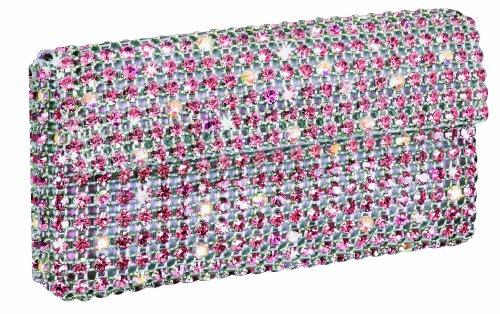 Glamour Bag - Cosmetic - Sac Femme - Cristaux Swarovski Rose /Blanc