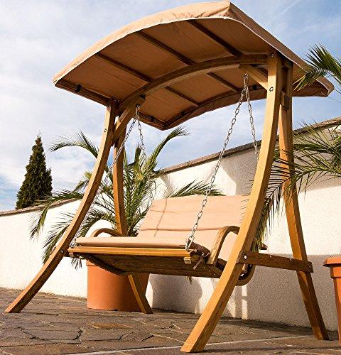 Design Hollywoodschaukel RIO aus Holz Lärche mit Dach von AS-S - 2