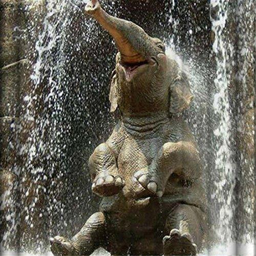 Cortina de ducha de poliéster Agua Reproducción de elefantes Patrón Opaque Mildew...