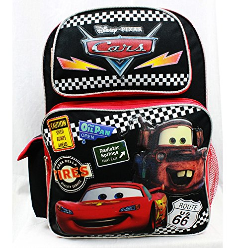 sac-a-dos-disney-cars-pneus-noir-grand-sac-decole-garcons-new-a05689
