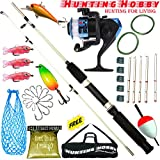#3: Fishing Spinning Unbreakable Rod,Reel,Accessories Complete Kit (4.5Feet)