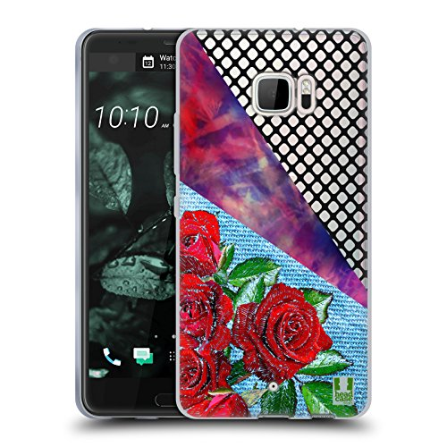 Head Case Designs Rose Batik Kravatte Und Vermaschte Drucke Soft Gel Hülle für HTC U Ultra / Ocean Note